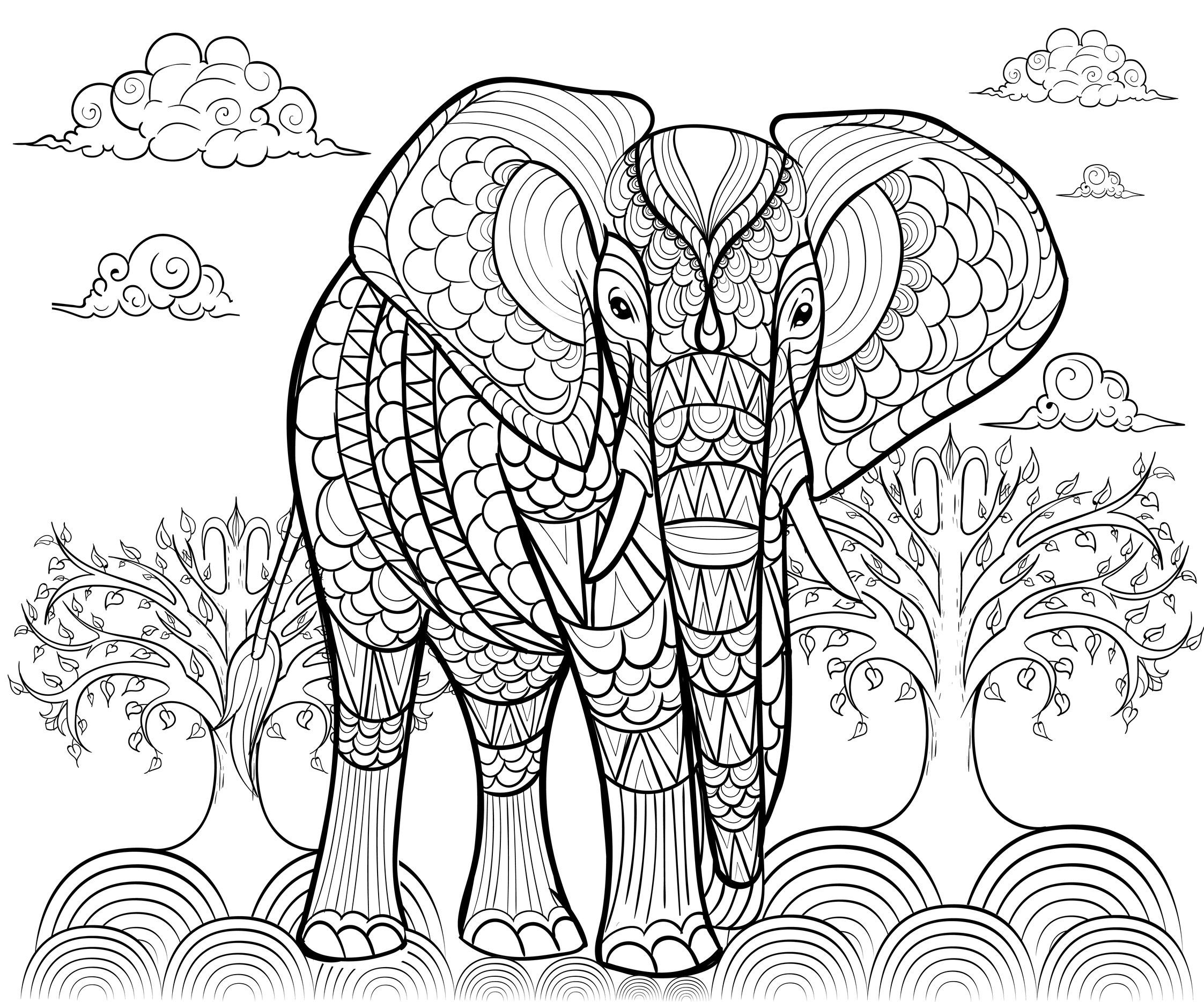 Elephant By Alfadanz Elephants Coloring Pages For Adults Just Color Elephant Coloring Page Animal Coloring Pages Mandala Coloring Pages