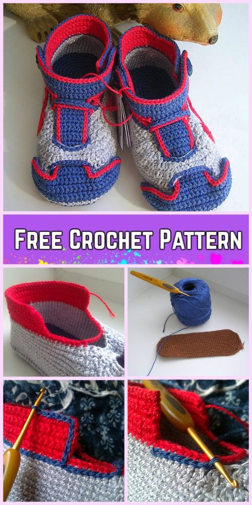 Crochet Nike Baby Sneakers Free pattern | patik | Pinterest ...