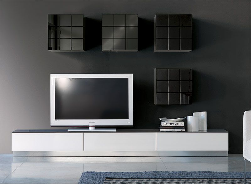 Pin By Елена Романова On Home Decor Pinterest Wall Storage - White gloss wall units living room