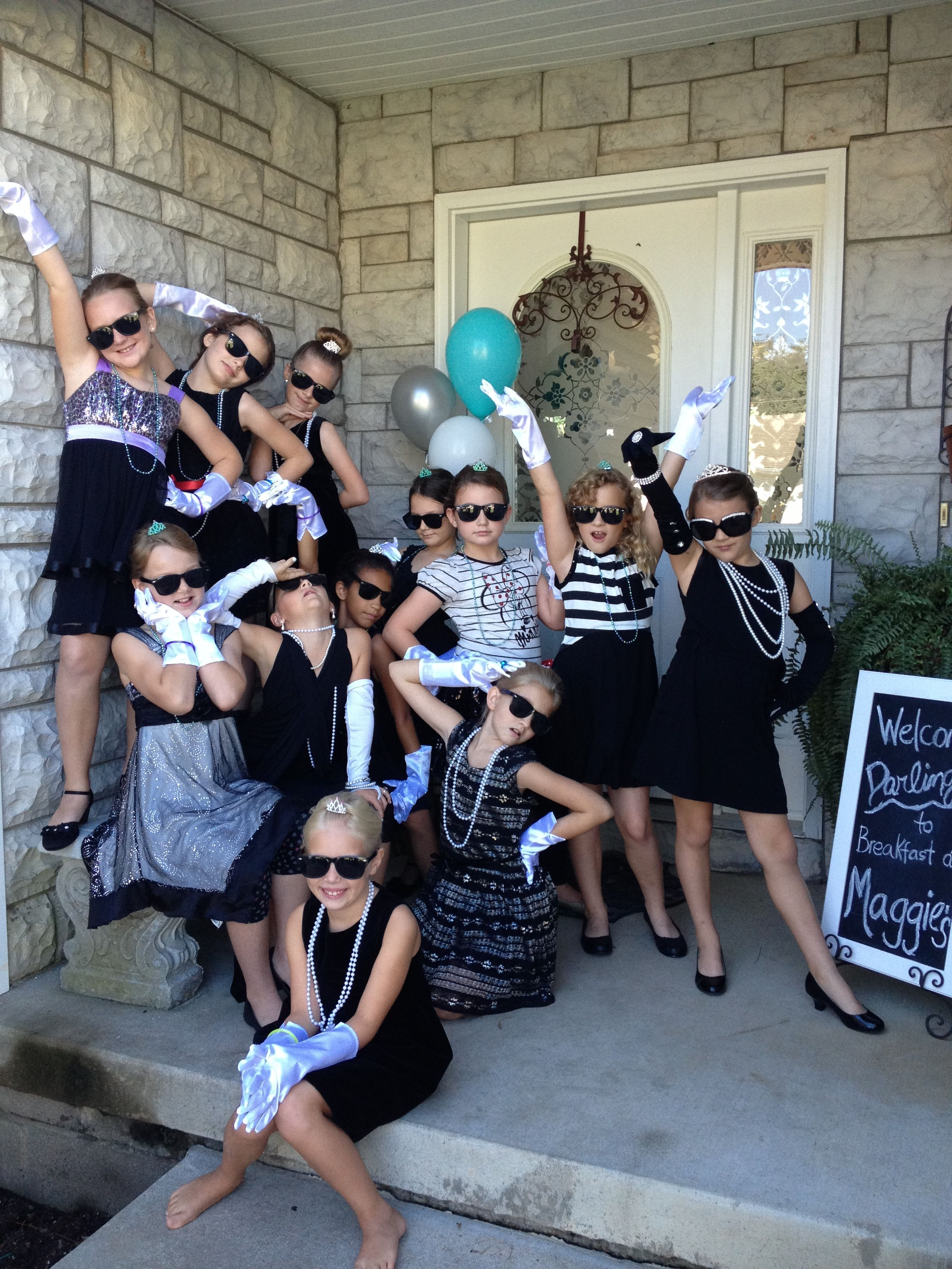 "All The Girls Standing In The Line For The Bathroom: Breakfast At Tiffany's Party. All The Little ""Holly"