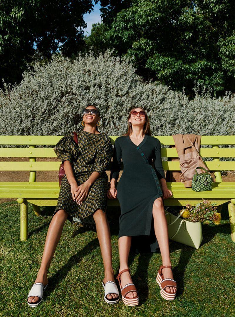 Karen Grace Indira Go Outdoors In Kate Spade Spring 20 Ads In 2020 Kate Spade Spring Sports Pants Women Pants For Women