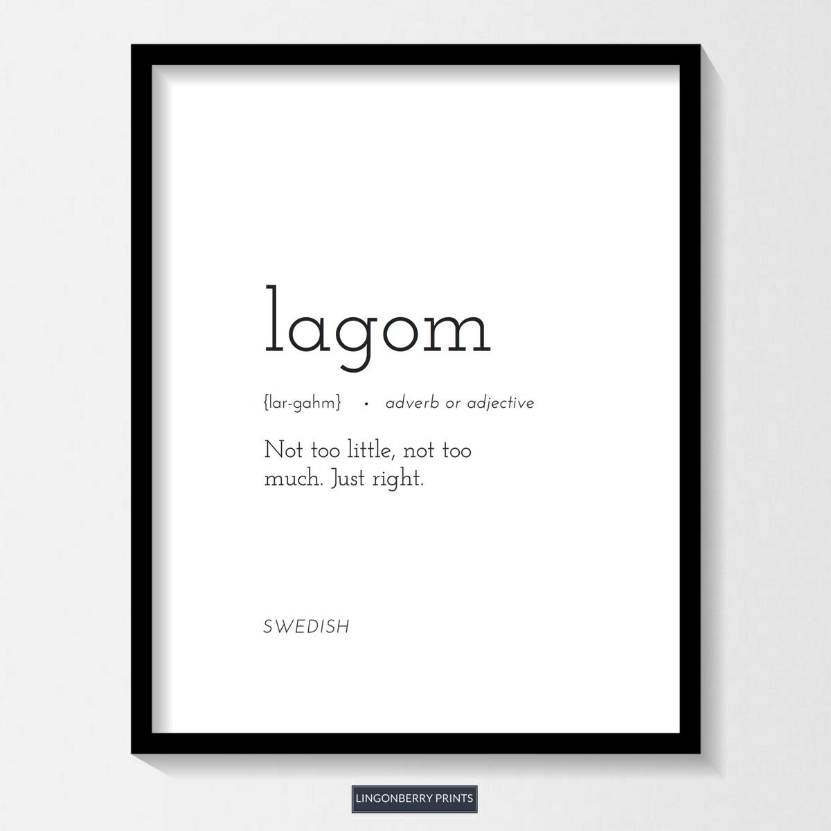Lagom Definition Print Digital Download Swedish Etsy In 2020 Unusual Words Rare Words One Word Quotes