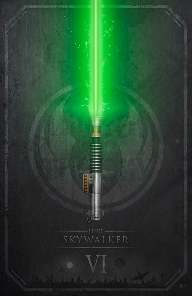 Luke Skywalkers Light Saber – Giclee Art Prints by DigitalTheory on ETSY