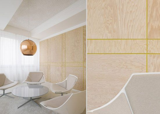 Painted Groove In The Plywood Walls Ippolito Fleitz Group