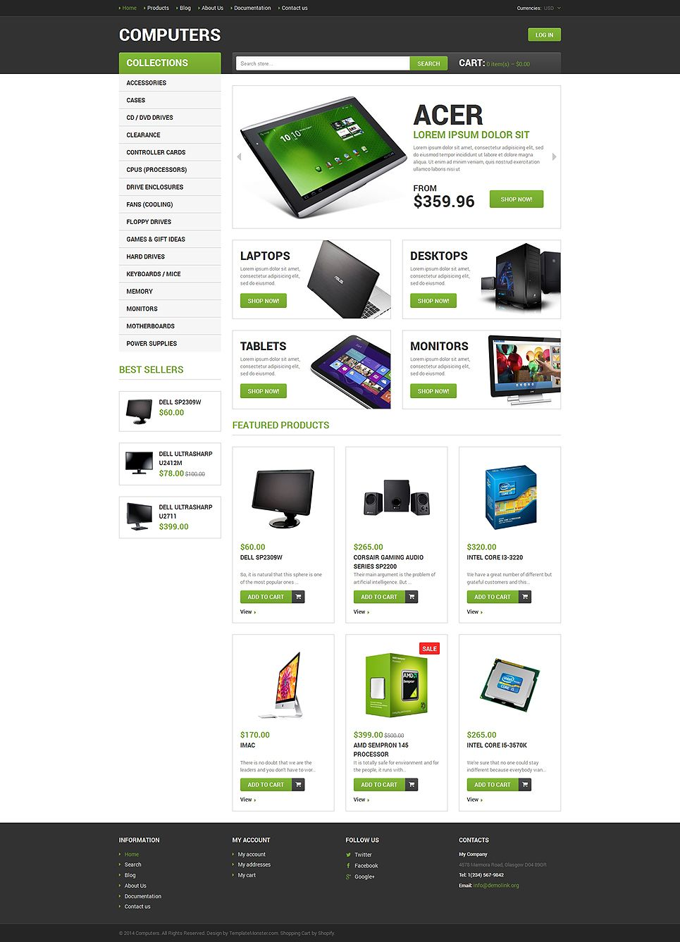 Computer Store Responsive Shopify Theme 49166