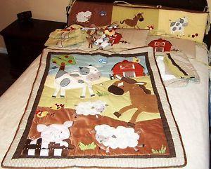 Baby Farm Animals Crib Blankets Kids Line Animal Acres Nursery Set Bedding