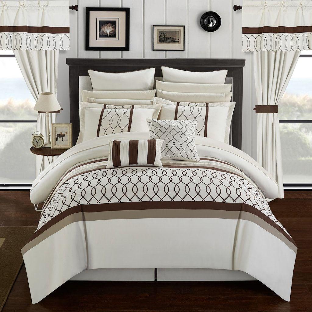 New Bedding Sage Green Brown White Hampton Comforter Set Queen Cal King Curtains Green Comforter Sets Bedroom Comforter Sets Green Bedding