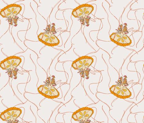 Medusa Jellies on cream fabric by wiccked on Spoonflower - custom fabric