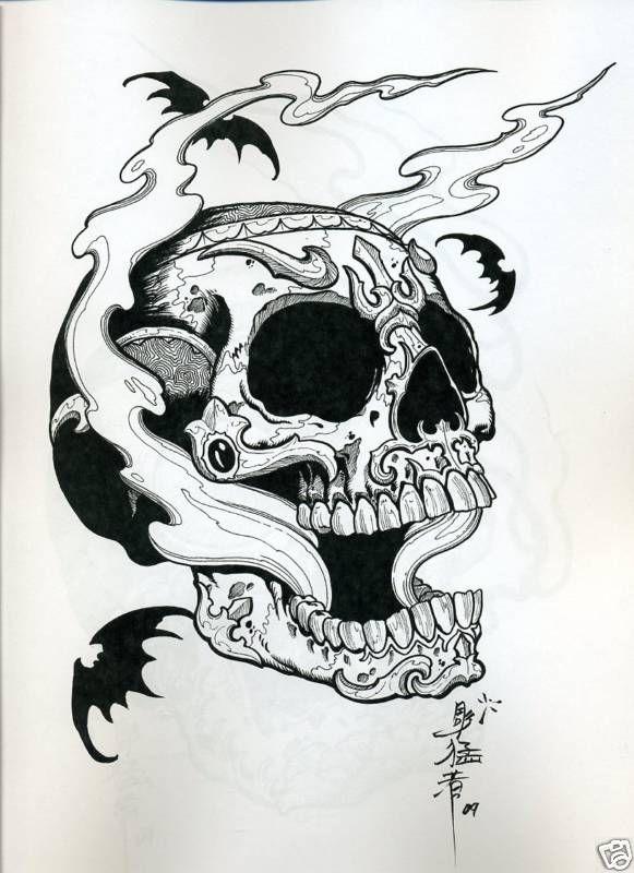 tibetan skull tattoo  tattoos flash tattoo