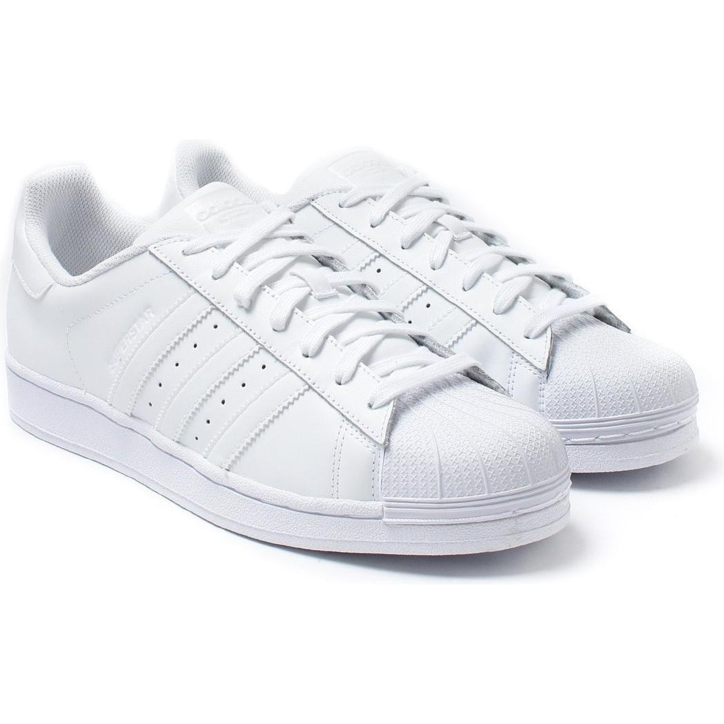 adidas originali superstar fondazione scarpe bianche bianco