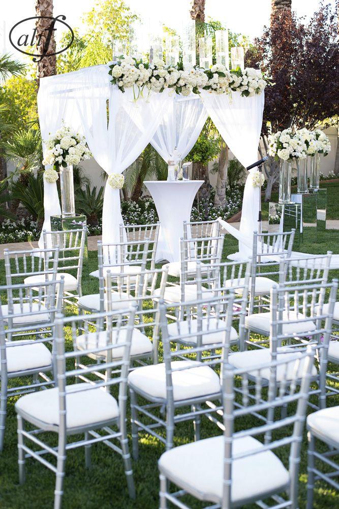 backyard wedding, purple and white, Las Vegas wedding, ceremony ...