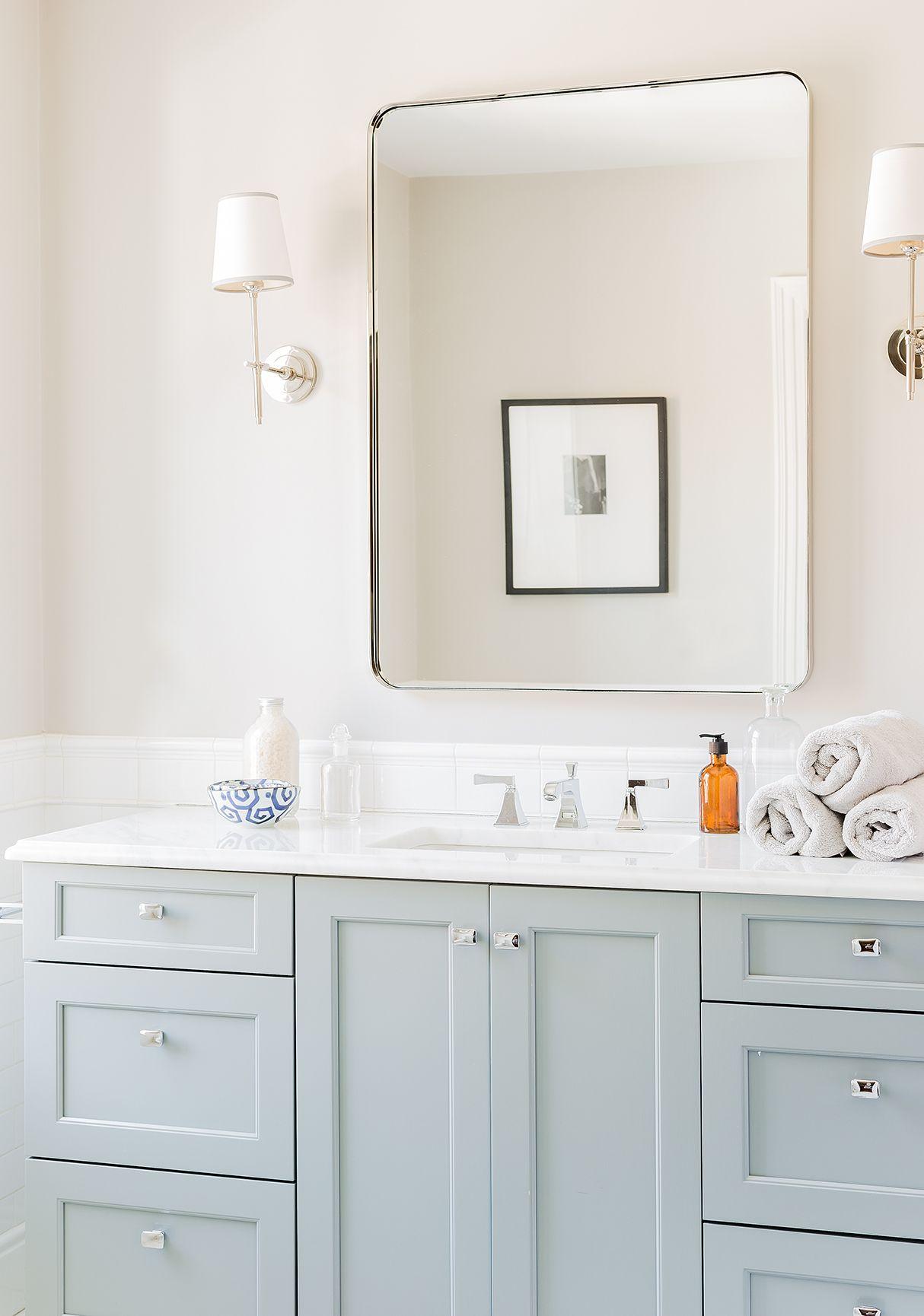 love the lighting!   Inspo - Bathroom   Pinterest   Guest bath, Bath ...