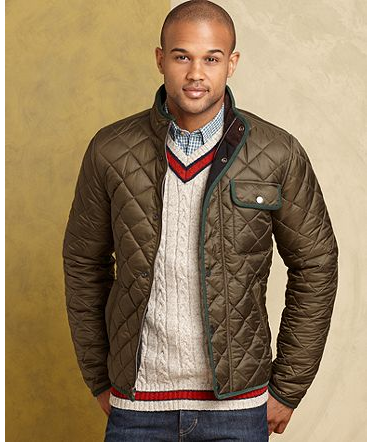 Quilted & comfy // Tommy Hilfiger Morgan Quilted Jacket | Guy ... : mens brown quilted jacket - Adamdwight.com