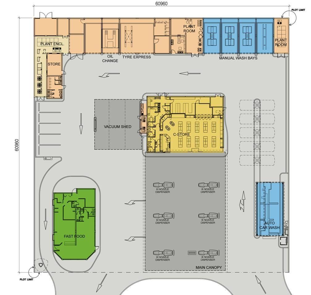 Emarat blueprints for gas station c store architectural emarat blueprints for gas station c store malvernweather Images