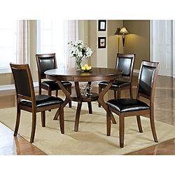 Dark Walnut 38 Inch Dining Chairs Set Of 2 Round Dining Room
