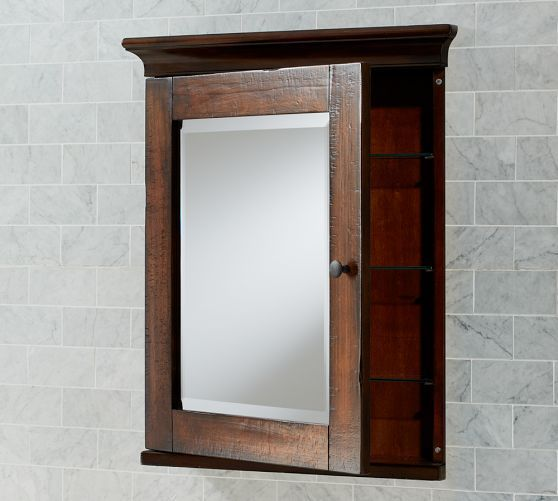 Recessed Barn Wood Medicine Cabinet With Open Shelf Made From 1800s Barn Wood Wood Medicine Cabinets Rustic Medicine Cabinets Barn Wood