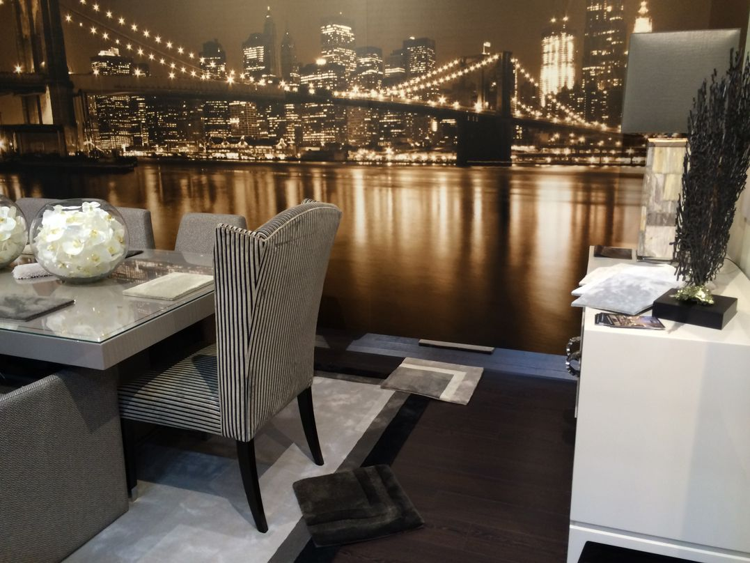 Chairs Against A New York Skyline At Our Exhibition Carpets Luxury Luxurycarpets Pillows Expo