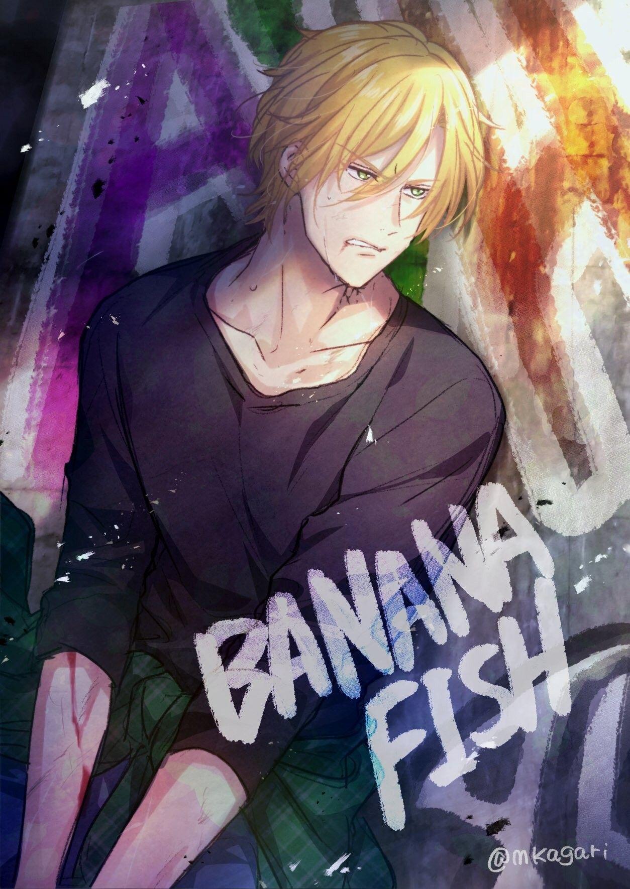 Banana Fish Ash Lynx With Images Banana Fish Wallpaper Fish