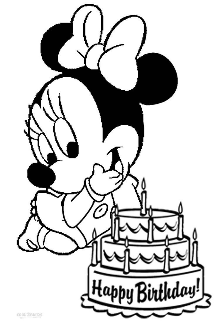 Minnie Mouse Coloring Pages Happy Birthday Minnie Mouse Coloring Pages Mickey Mouse Coloring Pages Birthday Coloring Pages