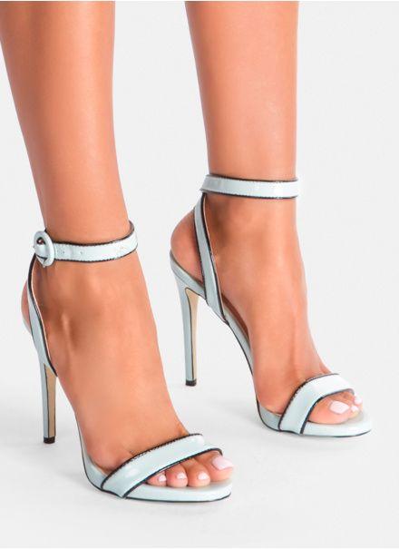 Sandaly Na Obcasie Buty Letnie 9022 11 Blue 35 40 Heels Sandals Heels Stiletto Heels