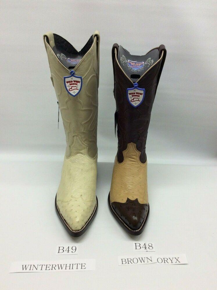 888a2e578ad eBay Sponsored) Men's Wild West Genuine Panza Avestruz J-Toe Cowboy ...