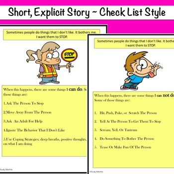 Social Story Skill Builder What Can I Do If Someone Is Bothering Me