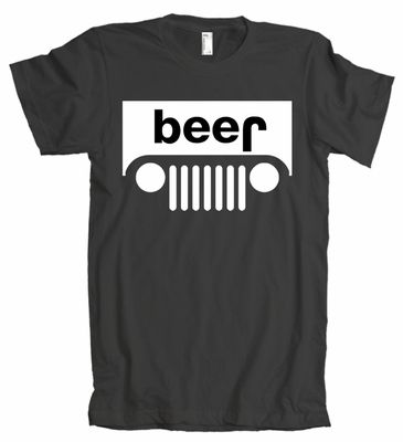 Beer Upside Down American Apparel T Shirt Jeep Beer Jeep Shirts