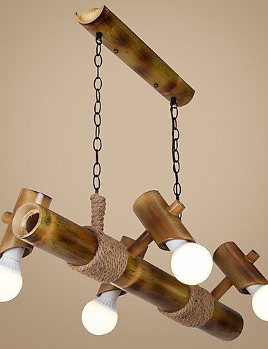 Scandinavian American Country Balcony Bamboo Rope Chandelier Chandelier * Check out the image by visiting the link.
