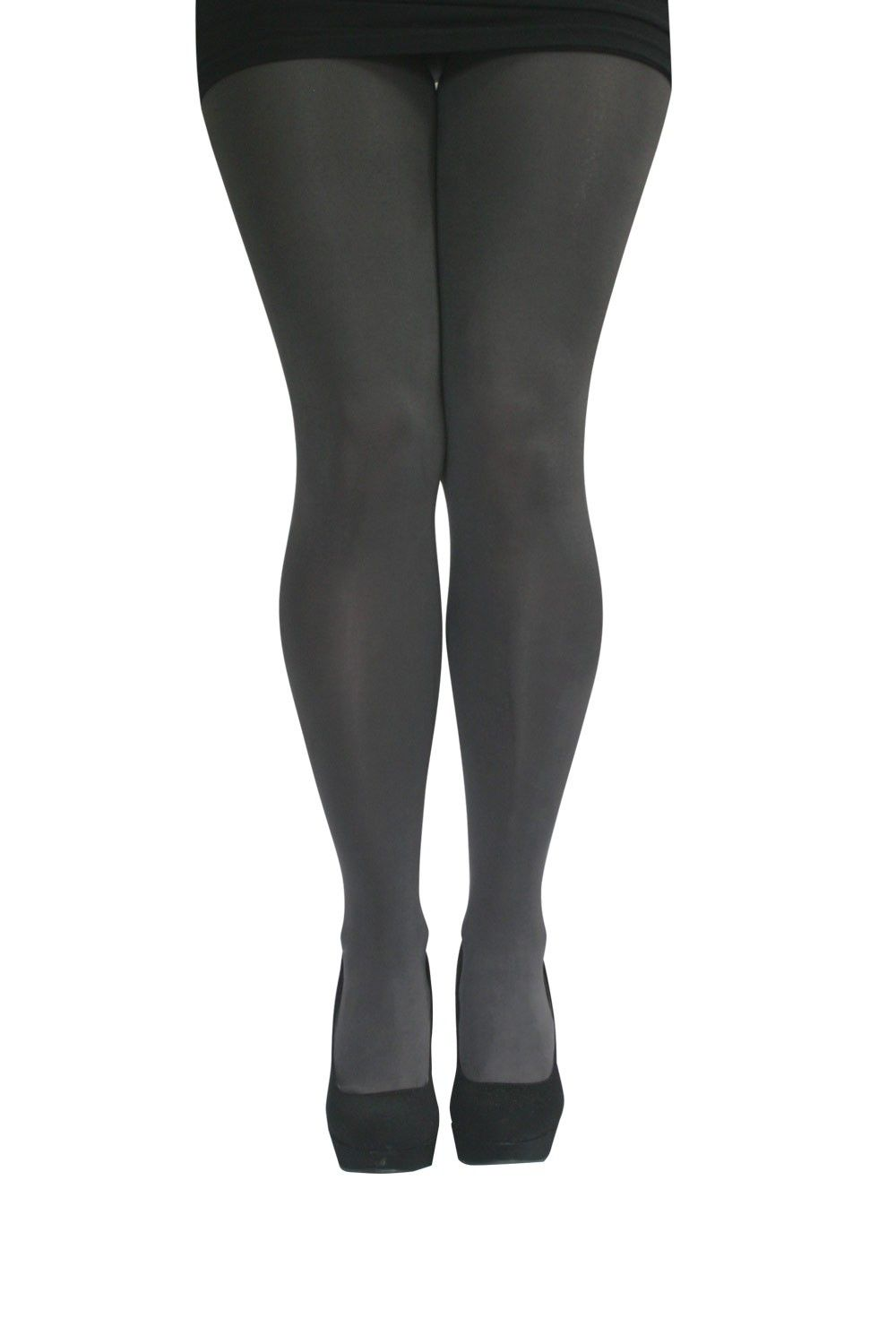 4e0272dc00016 Voluptuous Voodoo Totally Opaque Plus Size Tights in Storm Grey. $21.95  www.ministryoflegs.co.nz
