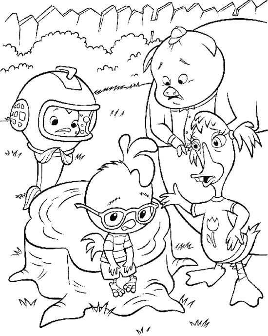 Friends Care With Chicken Little Coloring Page Coloring Pages