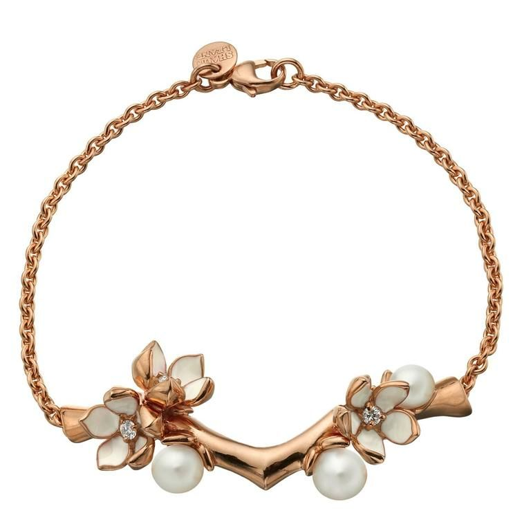 Bracelet real Cherry Blossom with Pearls