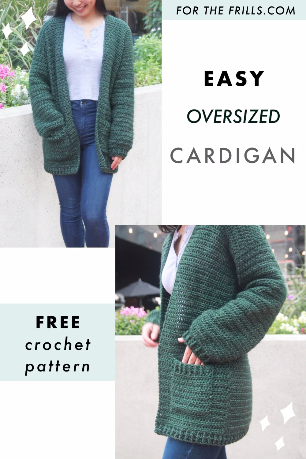 Photo of Simple Crochet Cardigan for Beginners! Free crochet pattern + video tutorial