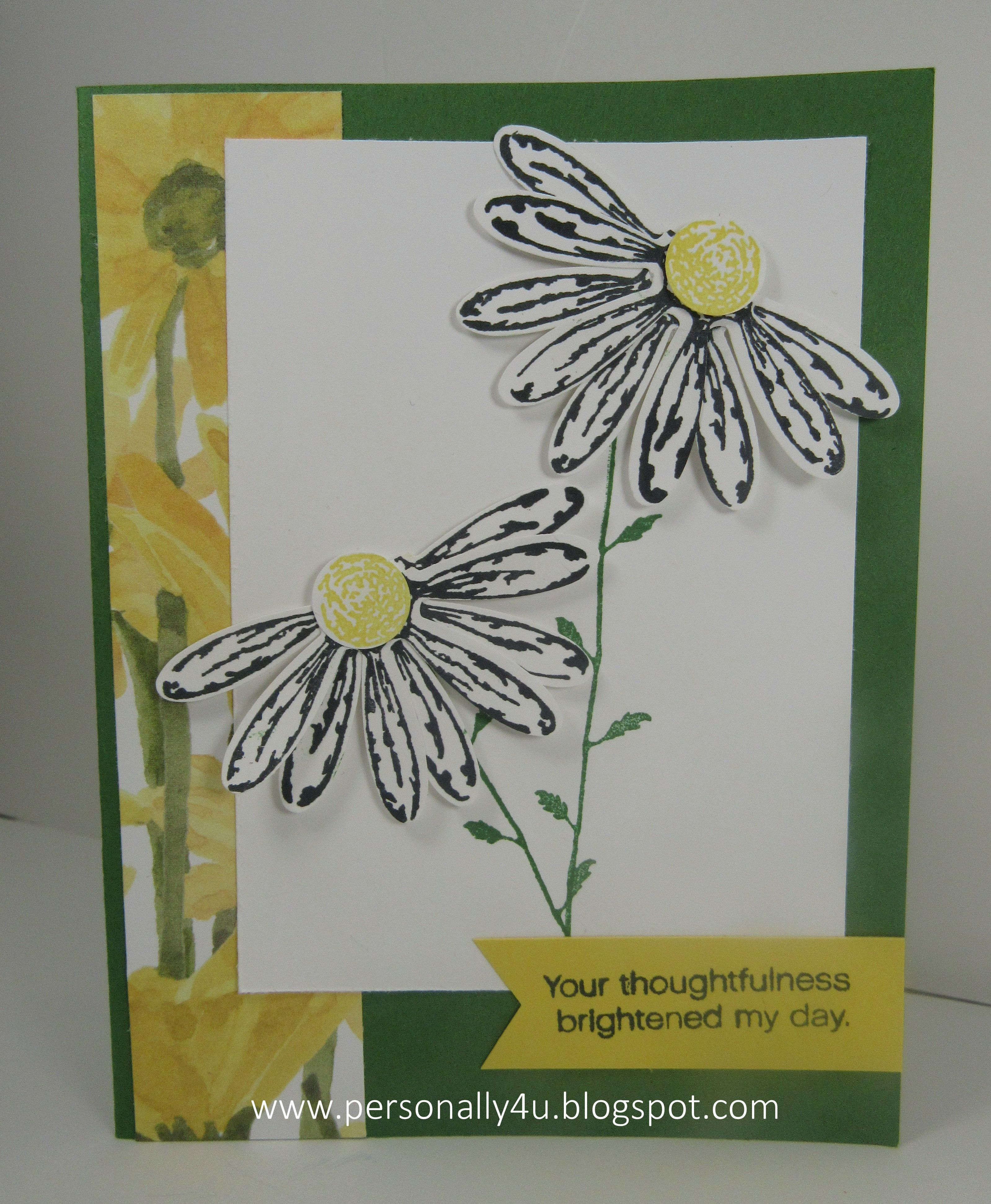 Sunny Sunday Delightful Daisy stamp set and DSP