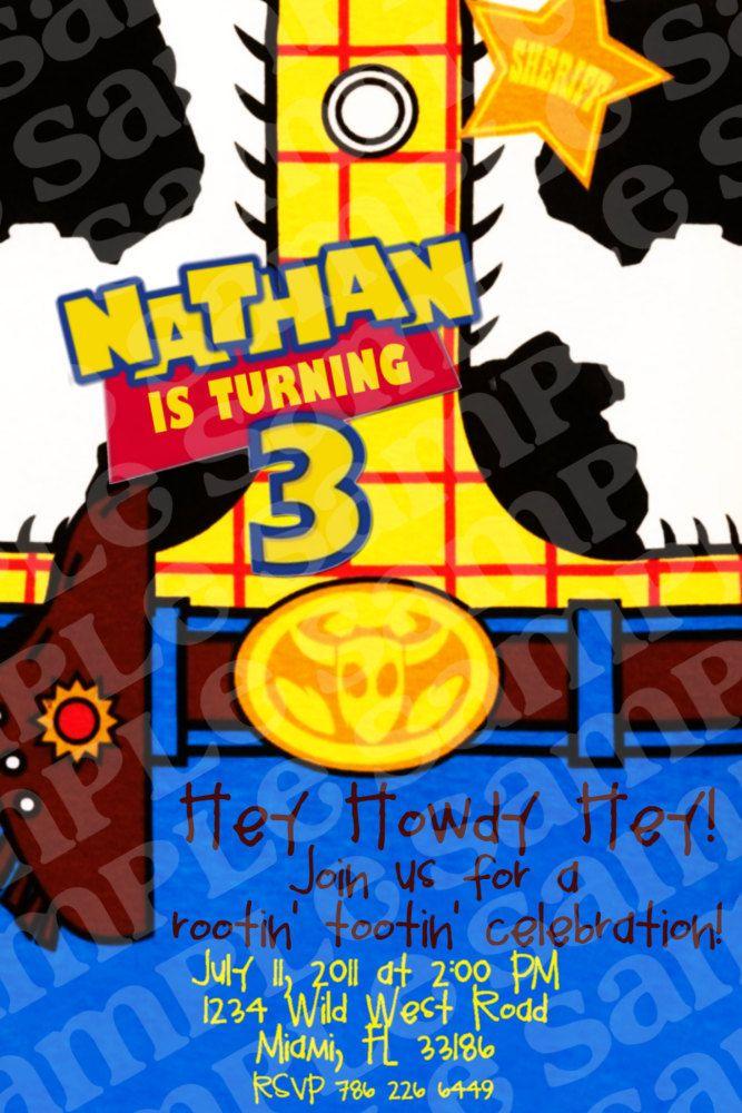 Toy Story Woody Birthday Invitation by HeartsandScraps on Etsy ...