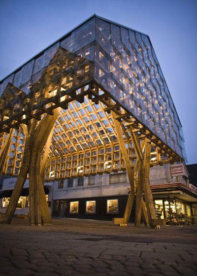 An innovative construction made from timber just shows that there is no  boundary for the use