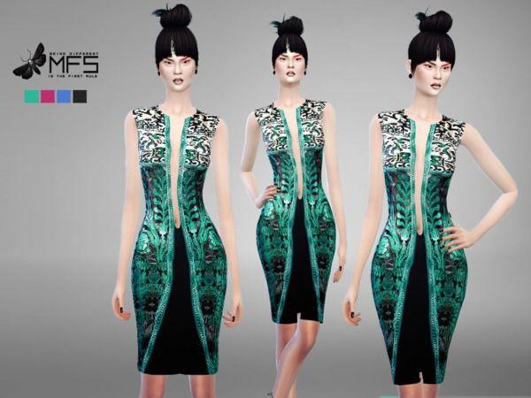 4399a064 MissFortune's MFS Sumiko Dress | TS4 Female Clothing | Sims 4 ...