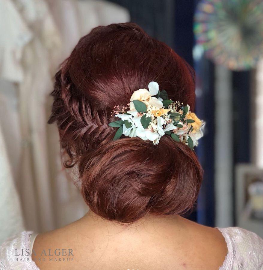 see website for online wedding hair training * low bun