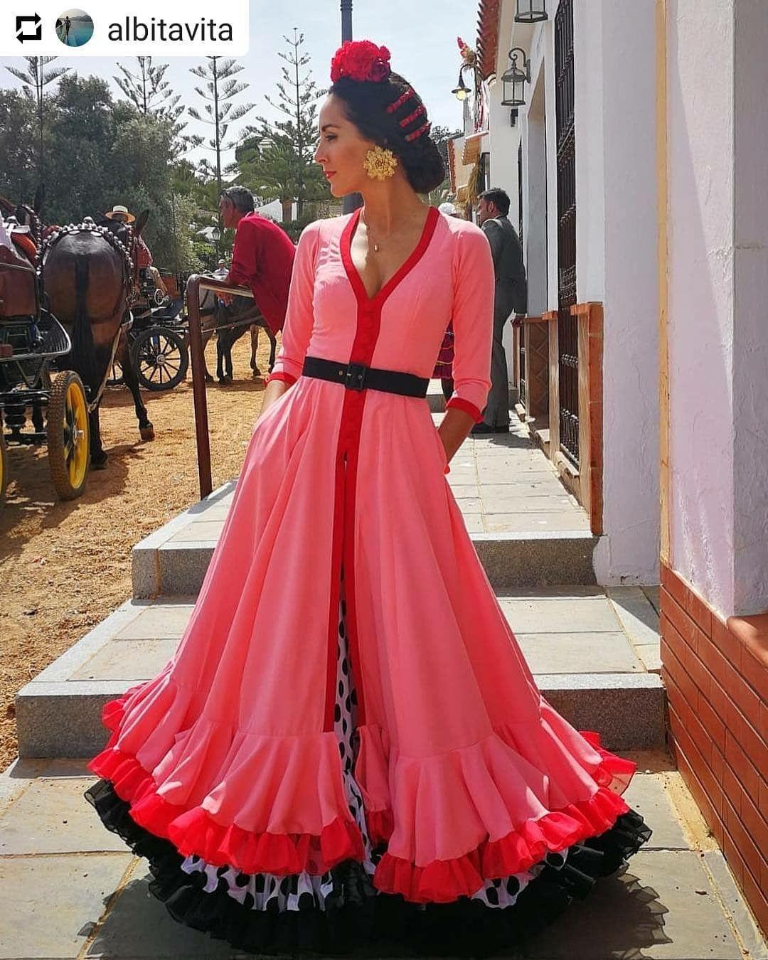5792699fd Pin de Mariana Dosil en Flam en 2019 | Vestidos de flamenca, Arte ...