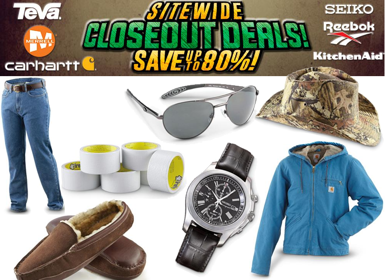 #Accessories #Men's #Shoes #Women's Up to 80% Off Sitewide Closeout Deals at Bargain Outfitters. Found on DealsAlbum.com.