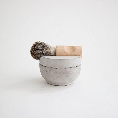 """Minimal: Concrete"" by http://www.leuchtend-grau.de  shaving kit  Designed by Lovisa Wattman"