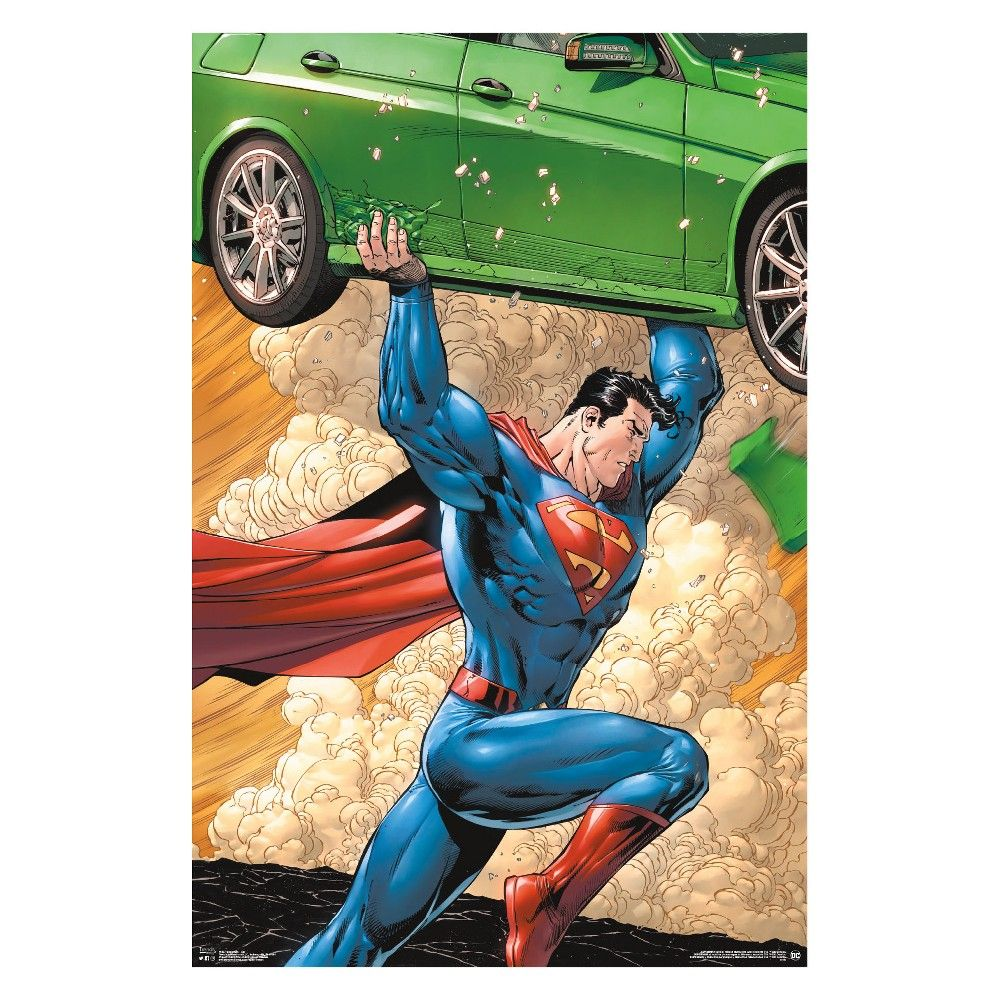 Superman Car Unframed Wall Poster Print 34 X 22 38 Trends International Multi Colored Trends International Poster Prints Poster Wall