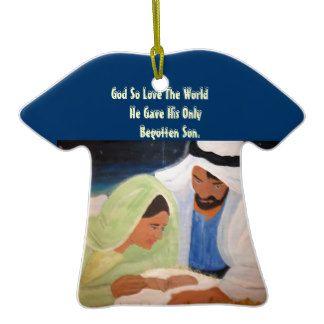 Mary Joseph and baby Jesus Ornaments