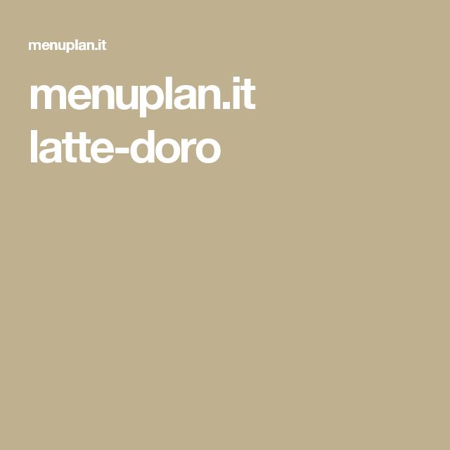 menuplan.it latte-doro