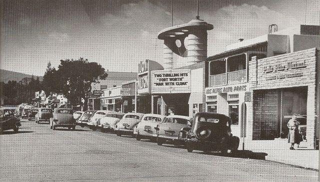 Downtown Los Altos In 1951 Dad Los Altos Theatre