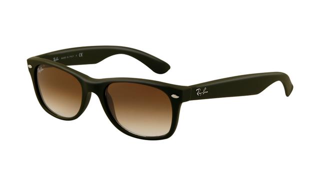 b729decc5a Ray Ban RB2132 Wayfarer Sunglasses Camo Green Rubber Frame Crystal Brown  Gradient Lens