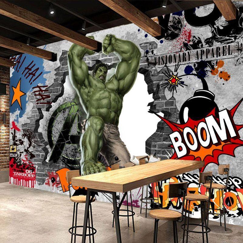 Avengers Photo Wallpaper Custom 3D Hulk Wallpaper Graffiti ...