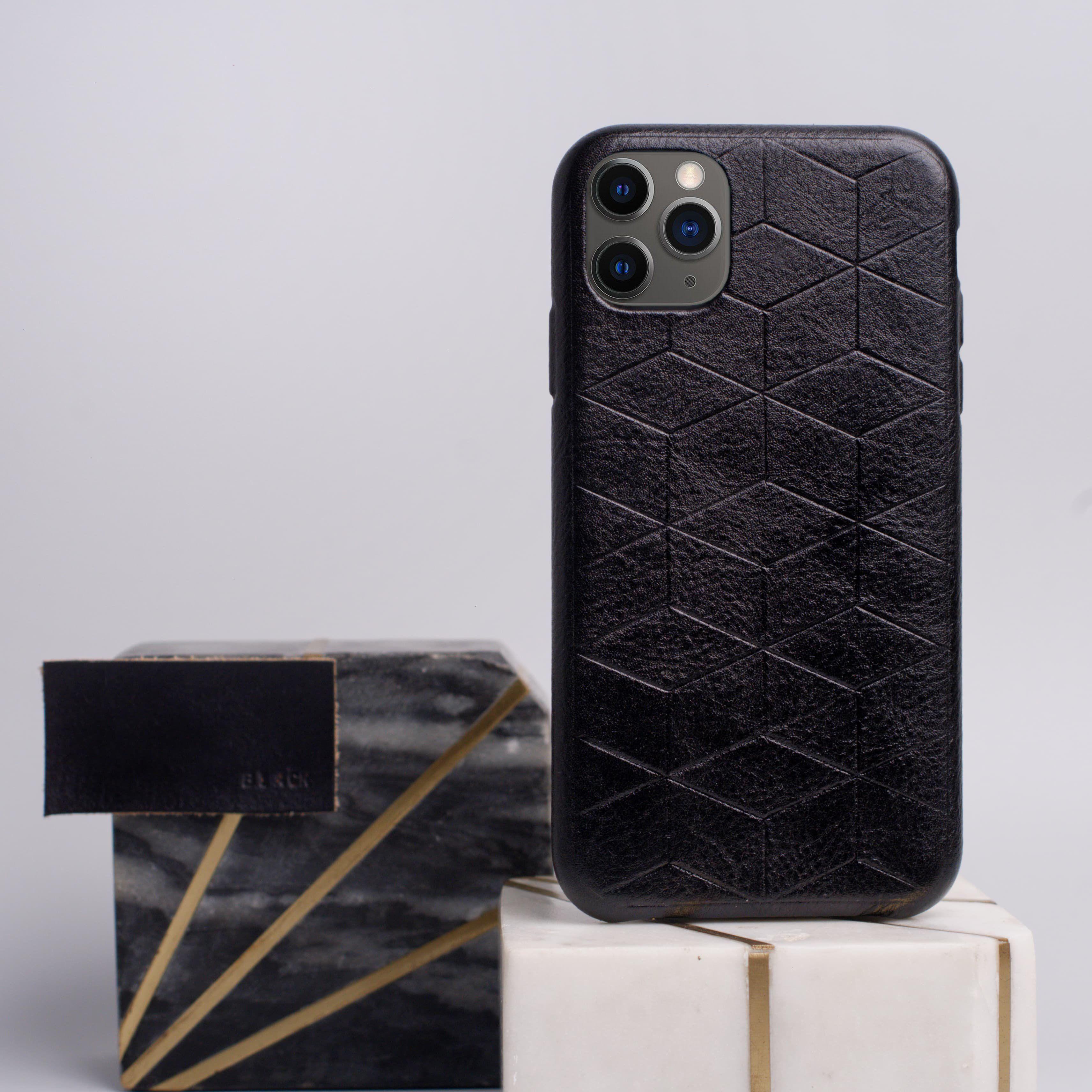 Black iphone 11 pro max case geometric goods in 2020