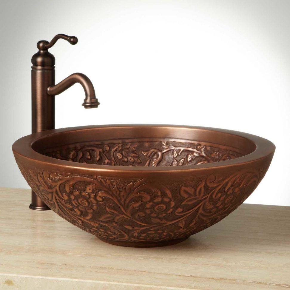 Bathrooms Unique Vessel Sinks Design Inspiration Whe Stain