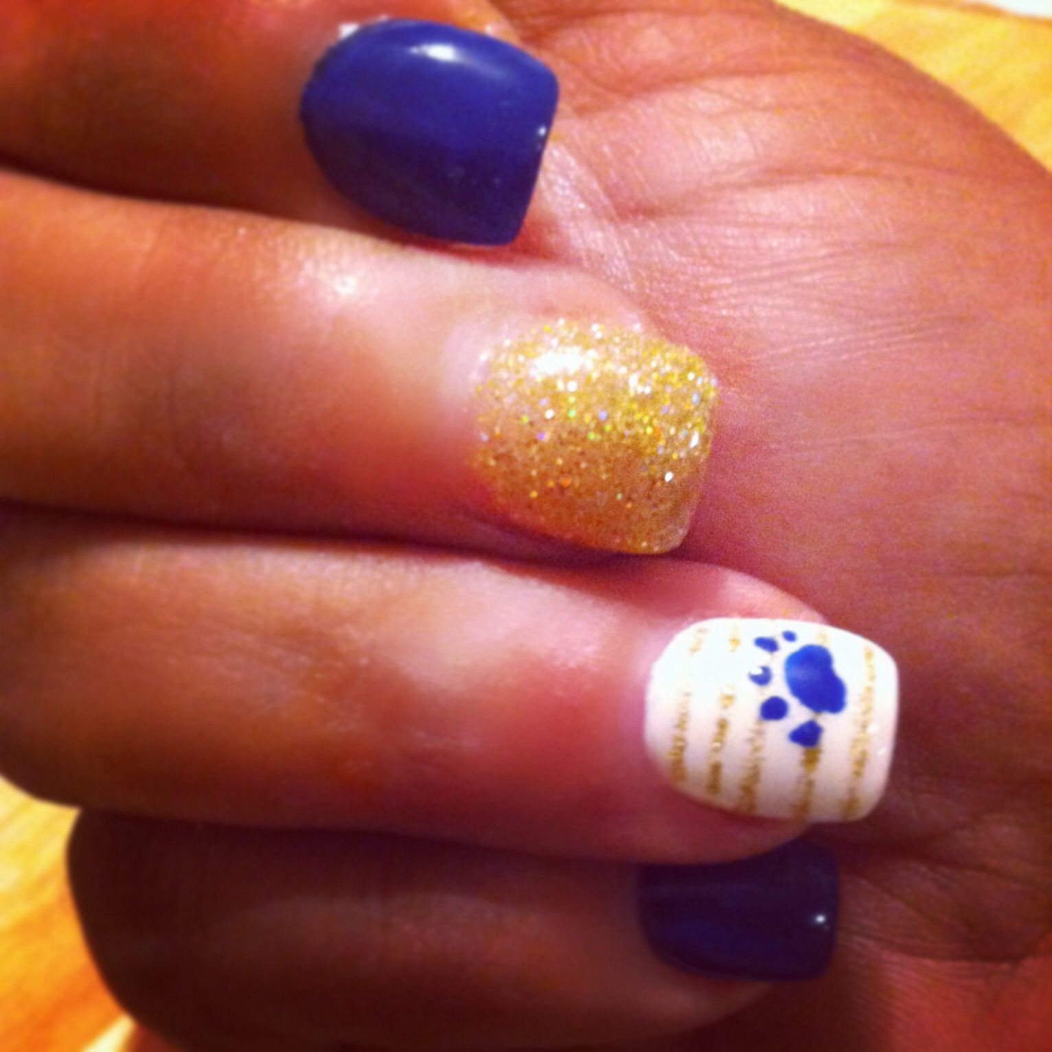 School spirit nail art | Nails | Pinterest | School spirit nails ...