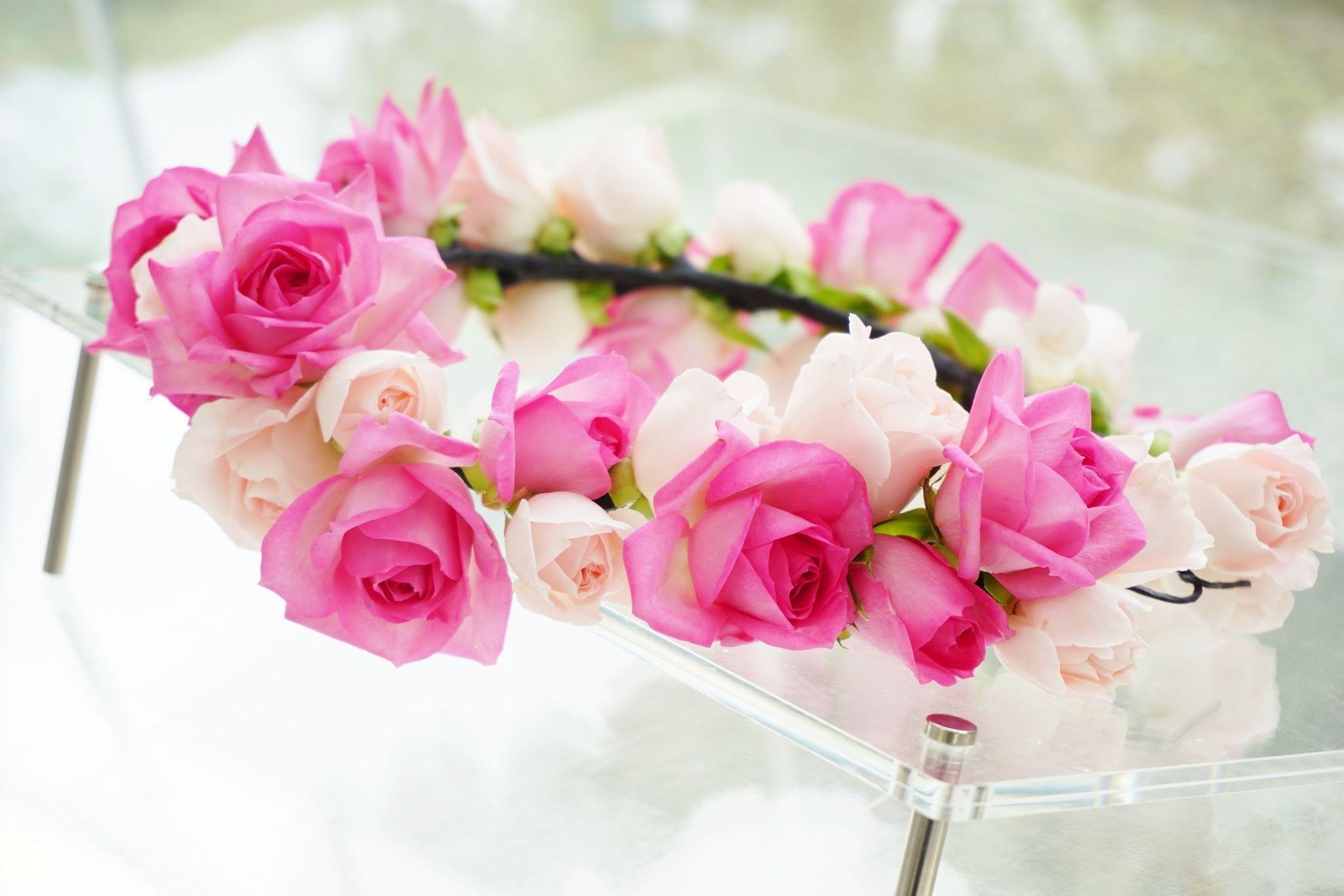 # Vress et Rose # Wedding # pink #smoky pink  # natural # Flower # Bridal # ブレスエットロゼ #ウエディング# ピンク #スモーキーピンク #シンプル # 花冠り #リストレット# ナチュラル# 花 バラ# ブライダル#結婚式
